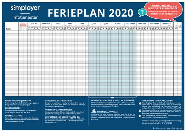 ferieplan 2020