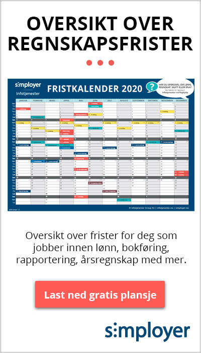 Last ned gratis fristkalender for 2020